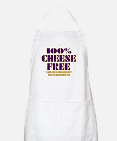 100% Cheese Free - MN BBQ Apron