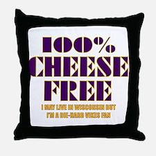 100% Cheese Free - MN Throw Pillow