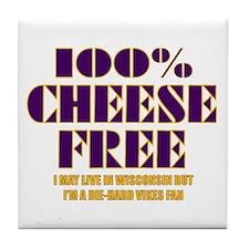 100% Cheese Free - MN Tile Coaster