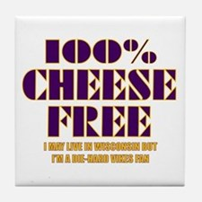 100% Cheese Free - MN Tile Coaster