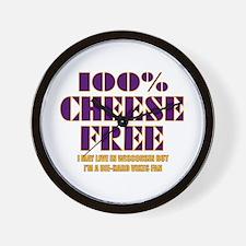 100% Cheese Free - MN Wall Clock