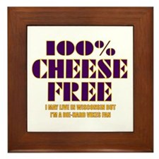 100% Cheese Free - MN Framed Tile