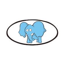 Light blue elephant Patch