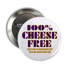 100% Cheese Free - MN Button