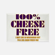 100% Cheese Free - MN Rectangle Magnet