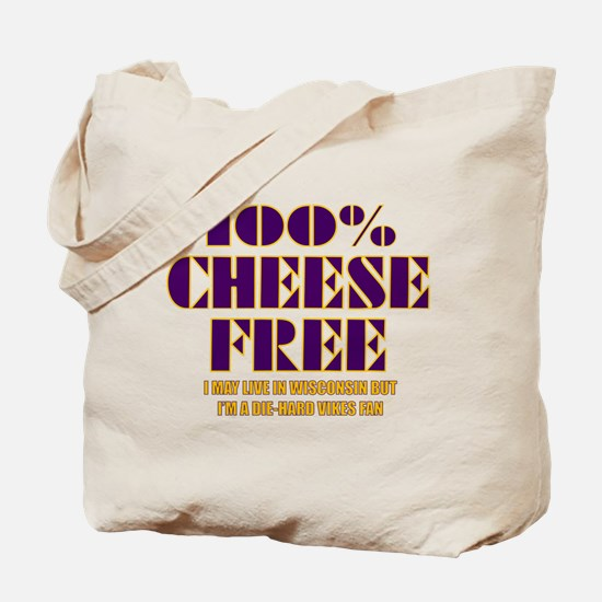 100% Cheese Free - MN Tote Bag