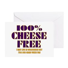 100% Cheese Free - MN Greeting Card