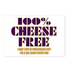 100% Cheese Free - MN Postcards (Package of 8)