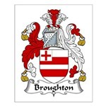 Broughton Family Crest Small Poster