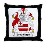 Broughton Family Crest Throw Pillow