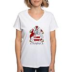 Broughton Family Crest Women's V-Neck T-Shirt