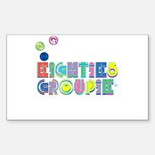 Eighties Groupie Retro 80s Rectangle Decal