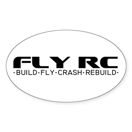 Fly RC Oval Sticker
