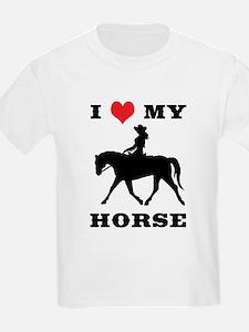 I Heart My Horse w/ Cowgirl T-Shirt