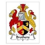 Brothers Family Crest Small Poster