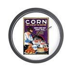 Corn Food of the Nation Wall Clock