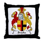 Brooke Family Crest Throw Pillow