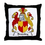 Bromley Family Crest Throw Pillow