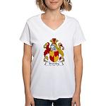 Bromley Family Crest Women's V-Neck T-Shirt