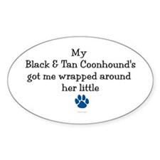 Wrapped Around Her Paw (BT Coonhound) Decal