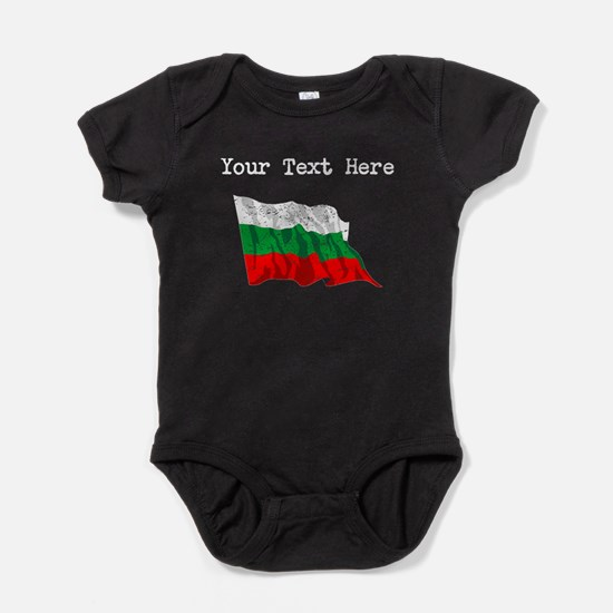 Bulgaria Flag (Distressed) Baby Bodysuit