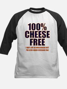 100% Cheese Free - Chi Kids Baseball Jersey