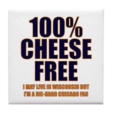 100% Cheese Free - Chi Tile Coaster