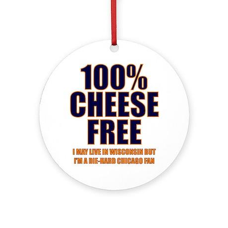 100% Cheese Free - Chi Ornament (Round)