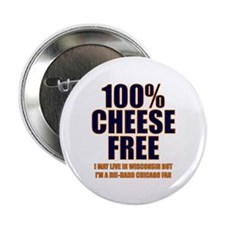 100% Cheese Free - Chi Button