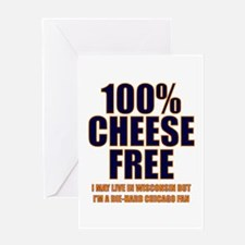 100% Cheese Free - Chi Greeting Card