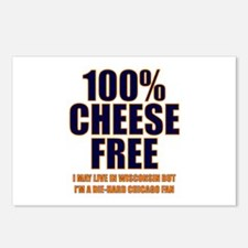100% Cheese Free - Chi Postcards (Package of 8)