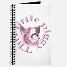 "Plain ""This Little Piggy"" Journal"