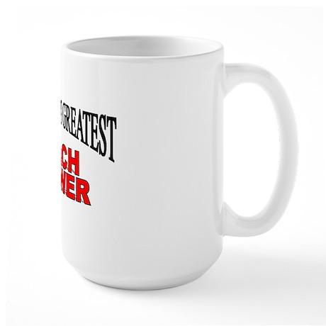 """The World's Greatest Peach Grower"" Large Mug"