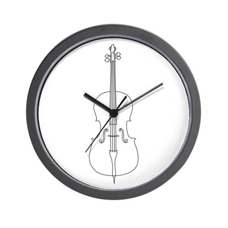 Cello Line Drawing Wall Clock by musicalartworks