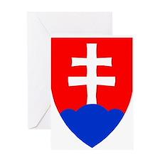 Slovakia Ice Hockey Emblem - Slovak Greeting Cards