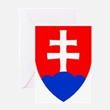 Slovakia Ice Hockey Emblem - Slovak Greeting Cards
