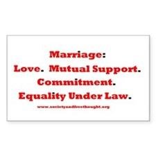 Marriage Rectangle Decal