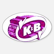 K & B Oval Decal