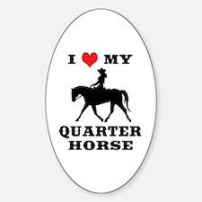 I Heart My Quarter Horse Decal
