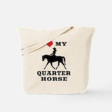 I Heart My Quarter Horse Tote Bag