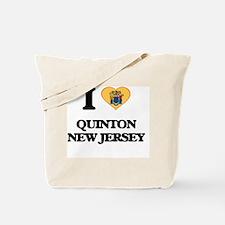 I love Quinton New Jersey Tote Bag