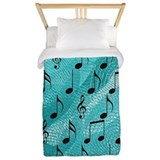 Musical note Luxe Twin Duvet Cover