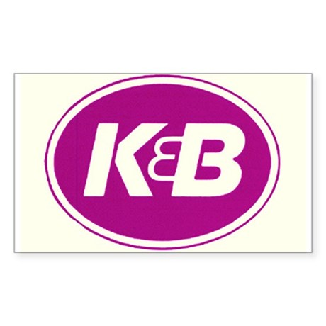 K&B Rectangle Sticker