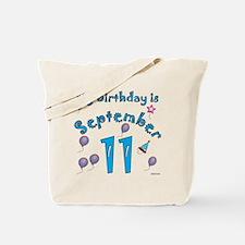 September 11th Birthday Tote Bag