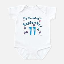 September 11th Birthday Infant Bodysuit