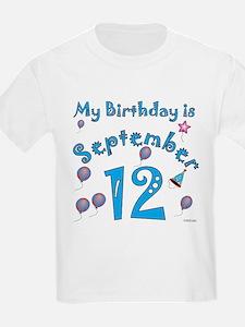 September 12th Birthday T-Shirt
