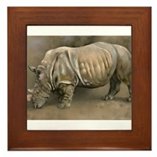 Old Rhino Framed Tile