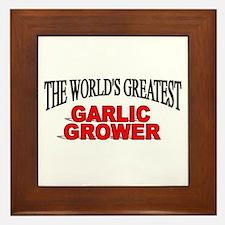 """""""The World's Greatest Garlic Grower"""" Framed Tile"""