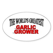 """The World's Greatest Garlic Grower"" Decal"