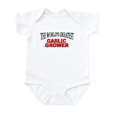 """The World's Greatest Garlic Grower"" Infant Bodysu"